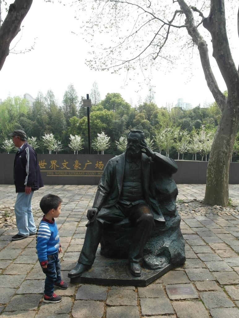 Standbeeld Victor Hugo in Shanghai